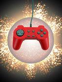 Controlador de juegos w clipping path — Foto de Stock