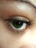 Pretty Green Eye — Stock Photo