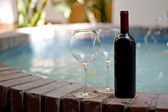 Red Wine and Glasses — Stock Photo