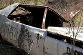 брошенных автомобилей — Стоковое фото