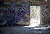 Graffiti Covered Slums — Stock fotografie
