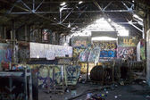 Graffiti Covered Slums — Foto de Stock