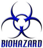Beveled Red Biohazard Logo — Stock Photo