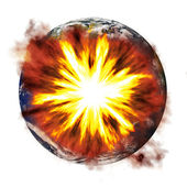Earth Exploding — Stockfoto