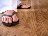 Flip flop feet — Stock Photo