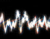 Bouncing Frequency Waves — Stock Photo