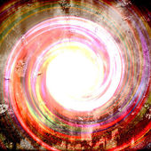 Kleurrijke grungy vortex — Stockfoto