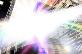 Glowing Urban Layout — Stock Photo