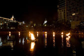 Providence Water Fire — Stock Photo