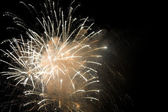 Golden Fireworks — Stock Photo
