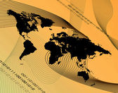 Orange världen montage — Stockfoto