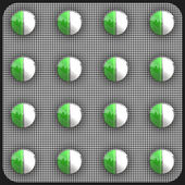 Green pills — Stock Photo