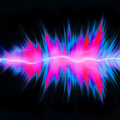 Powerful Audio Waves — Stock Photo