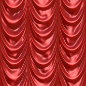 Red Curtain Drapery — Stock Photo