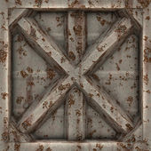 Worn Metal X — Stock Photo