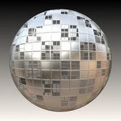 Chrome 3D Sphere — Stock Photo