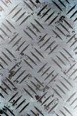 Placa de metal diamante — Foto Stock
