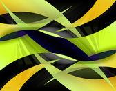 Abstraktní žlutá swooshes — Stock fotografie