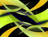 Amarillo abstracto swooshes — Foto de Stock