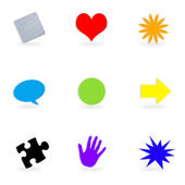 Symbol Buttons Collection — Stock Photo