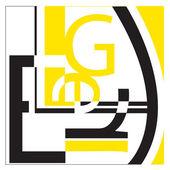 Typografi på vit — Stockfoto