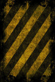 Grunge Hazard Stripes — Stock Photo