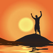 Victory At Sunset — Stock Photo