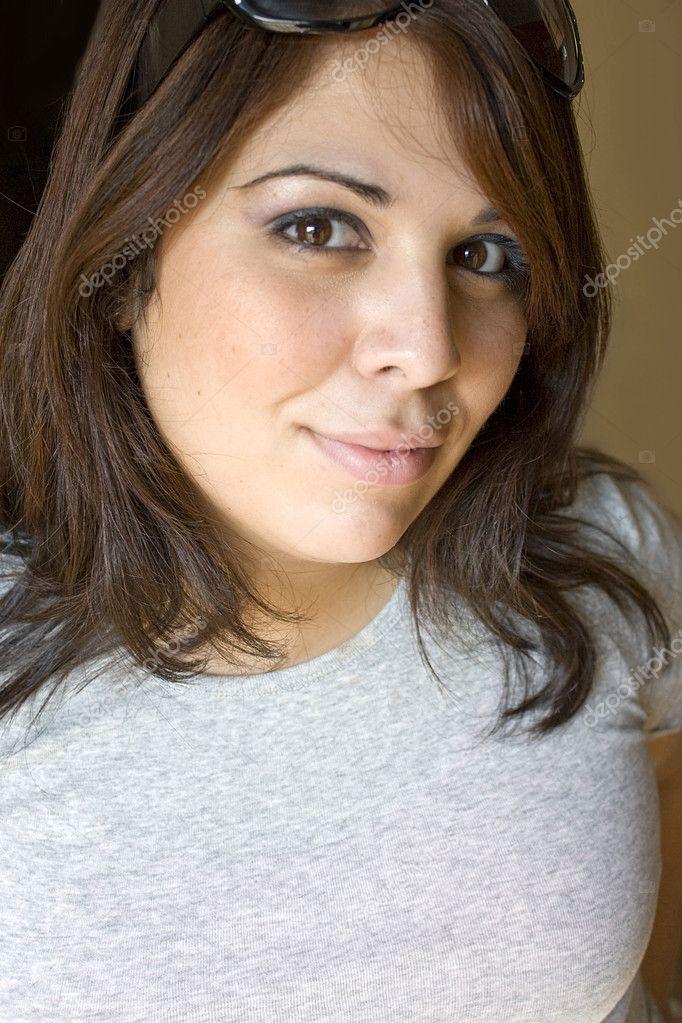 Pretty Puerto Rican Girl - Stock Image