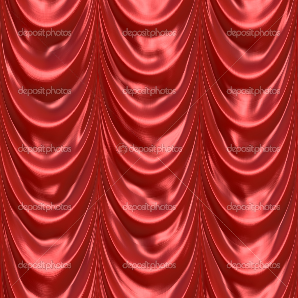 An illustration of a silky satin red fabric or curtain. This tiles seamlessly as a pattern in any direction. — Stock Photo #8948289
