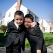 Two Happy Young Boys — Stock Photo