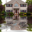 Stock Photo: Flood Damaged Home