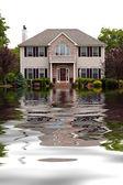 Accueil endommagé par inondation — Photo