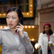 Business Woman On Her Phone — Stock Photo