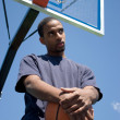 Basketball Player Thinking - Stock Photo