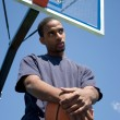 Stock Photo: Basketball Player Thinking