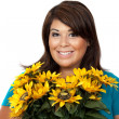 Woman With Flowers — Stock Photo #9226406