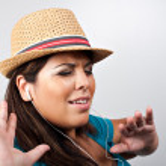luisteren naar muziek — Stockfoto