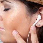 Stereo koptelefoon met oordopjes — Stockfoto
