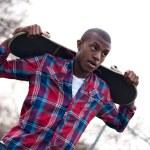 Skateboarding Guy Taking a Break — Stock Photo