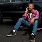Skateboarding Guy Talking on the Phone — Stock Photo