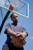 Basketbalspeler denken — Stockfoto