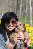 Happy Pet Owner — Stock Photo