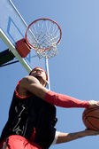 Basketball Player Dunking — Stock Photo