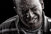 Man In Extreme Anguish or Pain — Stock Photo