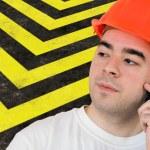 Highway Construction Worker — Stock Photo #9240016