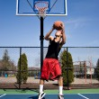 Royalty-Free Stock Photo: Basketball Reverse Dunk