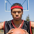 Stock Photo: Confident Basketball Player