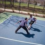 Guys Playing Basketball — Stock Photo