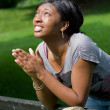 Young Woman Praying — Stock Photo