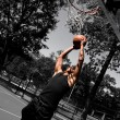 Player Dunking — Stock Photo